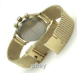 Urss Luxe Poljot Chronographe 3133 Or Plaqué Limité Gaz Watch Tachymeter Hommes