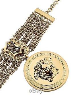 Vendu Partout Iconic Versace Plaqué Or Chaîne Méduse Bracelet