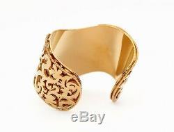 Versace 24k Plaqué Or Métal Bracelet