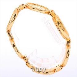 Versace Coin Watch 7008002 Cadran Qz Medusa Plaqué Or