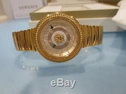 Versace Femme Vlc100014 V-metal Icon Ip Gold Montre En Acier Inoxydable