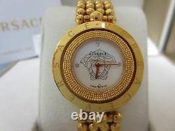 Versace Femmes 79q80sd497 S080 Eon Deux Anneaux Rose-or Plaqué Diamond Steel Watch
