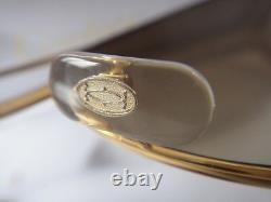 Vieux Chauffeur Cartier Louis! Grand! Lunettes De Soleil De 60mm France Plaquée Or 18k