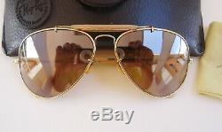 Vintage 1987 Ray-ban B & L Plaqué Or Le 50e Anniversaire Général Aviator 58mm