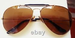 Vintage 1988 Ray-ban B & L Gold Plaqué Outdoorsman Chromax Driving Series Aviator