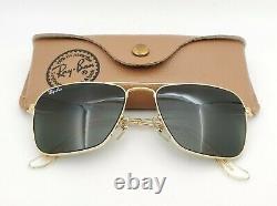 Vintage B & L Ray Ban Bausch & Lomb G15 Gris Caravan L0226 Withcase 52 MM