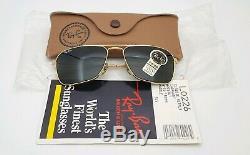 Vintage B & L Ray Ban Bausch & Lomb G15 Gris Caravan L0226 Withcase 52 MM Et Paperasserie