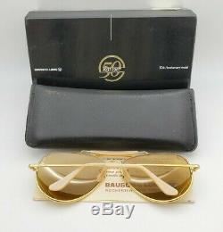 Vintage B & L Ray Ban Bausch & Lomb Rb50 Le Général 62mm W0364 Outdoorsman Withcase