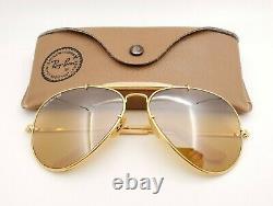 Vintage B&l Ray Ban Bausch - Lomb 62mm Rb50 Le Général W0364 Outdoorsman Withcase