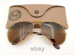 Vintage B&l Ray Ban Bausch & Lomb B15 Brown Tortuga 58mm Aviators Withcase