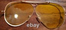 Vintage B&l Ray Ban Bausch & Lomb Outdoorsman Ambermatic Aviator Withcase