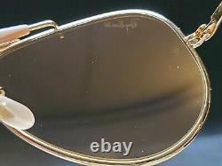 Vintage B&l Ray Ban Bausch & Lomb Rb50 58mm Le General Outdoorsman W0363 Avec Boîtier