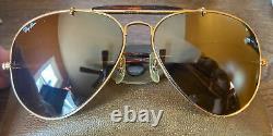 Vintage B&l Ray Ban Bausch & Lomb Rb50 Ultra Polarized Bravura 62mm Mirror Lens