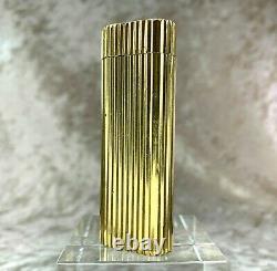 Vintage Cartier Essence Légère Ovale 18k Or Plaqué Forme Godron Avec Pas De Boîte