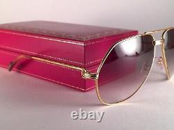 Vintage Cartier Vendome Medium 62mm Large! Lunettes De Soleil France 18k Plaqué Or