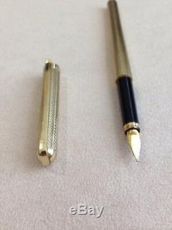 Vintage Elysée 60 Plaqué Or Barleycorn Moyen Fountain Pen-allemagne