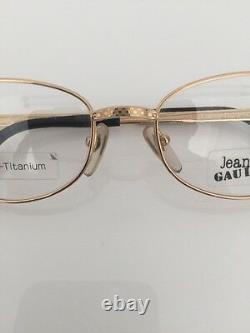 Vintage Jean Paul Gaultier Jpg 55-3184 Lunettes De Vue Titanium-p Gp Plaqué Or 90s