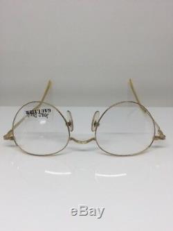 Vintage Jean Paul Gaultier Lunettes Jpg 55-1174 Gp Plaqué Or Fabriqué Au Japon