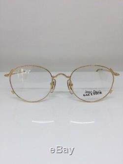Vintage Jean Paul Gaultier Lunettes Jpg 55-2176 Gp Plaqué Or Fabriqué Au Japon