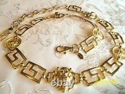 Vintage Made In Korea Signé Gold Plaqué Lion Ceinture Beautiful Perfect Con