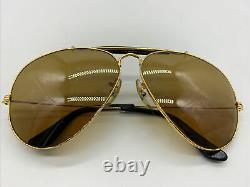 Vintage Ray-ban B&l Gold Outdoorsman W1665 Chromax Driving Series Aviator 62mm