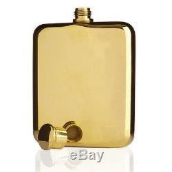 Viski Belmont Plaqué Or Flask 6 Oz De Qualité Premium Container Liquor