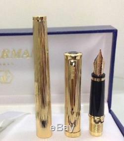 Waterman Préface Plaqué Or Gt Stylo-plume Pointe Moyenne En Or 18 Carats Nib Gravé