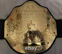 World Heavyweight Championship Leather Belt 2mm Plaques Métalliques En Laiton