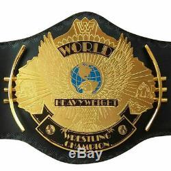 Wwe Wwf Classic Gold Championship Winged Aigle Ceinture Métal Laiton Plaqué Adulte