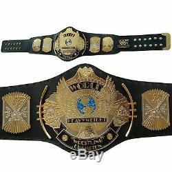 Wwe Wwf Double Plaqué Or Winged Aigle Wrestling Laiton Championnat Ceinture En Métal