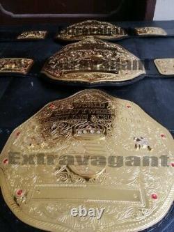 Wwf Wcw Big Gold Heavy Weight Wrestling Championship Belt 2mm Brass Metal Plate