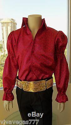 (nouveau) Elvis (plaqué Or 18 Carats Ceinture Metal) Tribute Artiste Costume (jumpsuit Era)